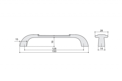 """M78.X01.Q3.MD1G Ручка-скоба 128мм, бронза античная """"Флоренция"""" + керамика"""