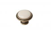 """P77.Y01.00.MD1G Ручка-кнопка, отделка бронза античная """"Флоренция"""" + керамика P88.Y01.00.MD1G"""