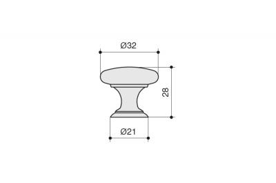 KB-M-3976-32-AC Ручка-кнопка, отделка шлифованная медь