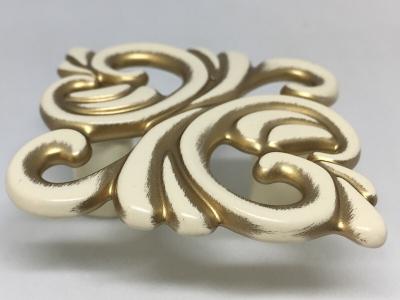 Ручка-кнопка 32мм cлоновая кость/золото винтаж WPO.707.032.00T5
