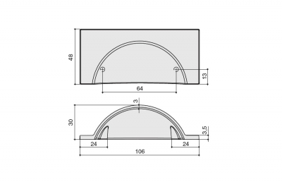 HN-M-3981-64-BC Ручка-скоба 64мм, отделка медь