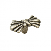 Ручка кнопка, отделка серебро античное 24089Z04500.25B