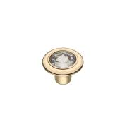 CRL35 OT Ручка-кнопка с кристаллами,золото
