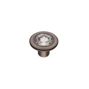 CRL35 BN Ручка-кнопка с кристаллами,черный хром