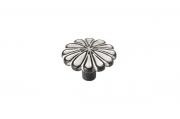 WPO.742Y.035.M001C Ручка-кнопка, отделка черная с серебряной патиной