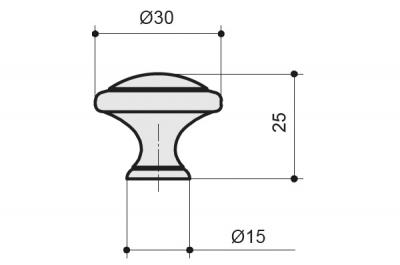 WPO.2025Y.30.M00V2 Ручка-кнопка, отделка медь Сиена