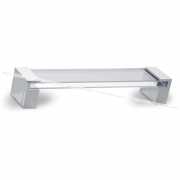 Ручка-скоба 160мм хром/стекло прозрачное 370.160.10