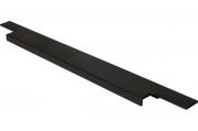 408020395-76.1 Ручка врезная 395мм, отделка черный шлифованный