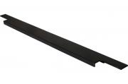408020595-76.1 Ручка врезная 595мм, отделка черный шлифованный