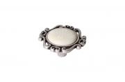 P41.Y01.G4.ME8G Ручка-кнопка, отделка старое серебро с блеском + керамика