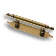4208-22 Ручка рейлинг на подложке, старая бронза 64 мм