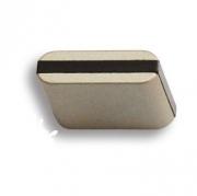 429025MP04PL15 Ручка кнопка, матовый никель с коричневой вставкой