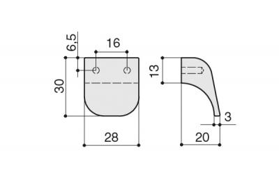 S434320016-94 Ручка-кнопка 16мм, отделка бронза темная