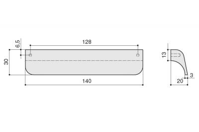 S434320128-66 Ручка-скоба 128мм, отделка сталь шлифованная
