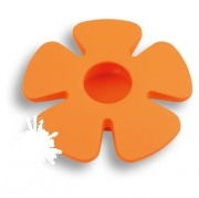 435025ST08 Ручка кнопка детская, цветок оранжевый