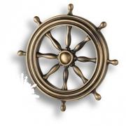 4414.0074.001 Накладка декоративная в форме штурвала, античная бронза