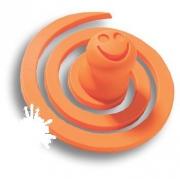 445025ST08 Ручка кнопка детская, червячок оранжевый