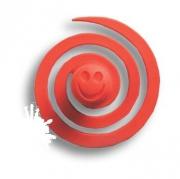 445025ST09 Ручка кнопка детская, червячок красный
