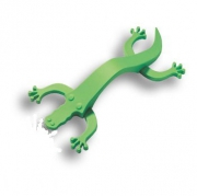 450096ST06 Ручка скоба детская, крокодил зеленый 96 мм