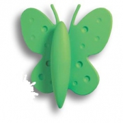 453032ST06 Ручка кнопка детская, бабочка зеленая 32 мм
