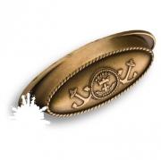 4568.0064.001 Ручка раковина, античная бронза 64 мм