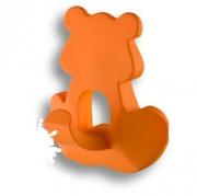 458032ST08 Ручка кнопка детская, медведь оранжевый 32 мм