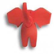 463025ST09 Ручка кнопка детская, слон красный