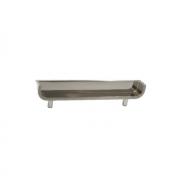 Ручка-скоба врезная 96мм, отделка сталь шлифованная 1208.4B