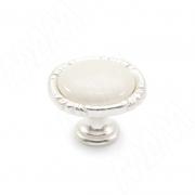 WPO.48.01.00.000.M5 Ручка-кнопка серебро Венецианское/керамика молочная