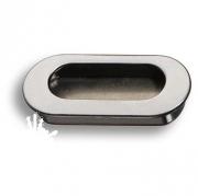 4858-63 Ручка врезная, серебро 64 мм