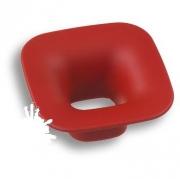 489032ST09 Ручка кнопка детская, квадрат красный 32 мм