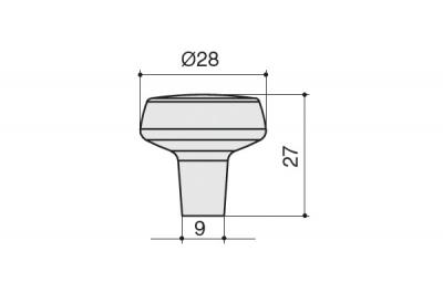 S541060028-91 Ручка-кнопка, отделка антрацит шлифованный