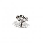 "Ручка-кнопка ""Афина"" с накладкой, отделка серебро 23806.R140"