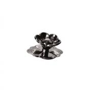 """Ручка-кнопка """"Афина"""" с накладкой, отделка никель чёрный 23806.R50L"""