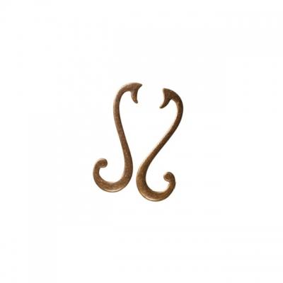 "Ручка-скоба 96мм (правая), отделка бронза ""Флоренция"" 15065Z096DB.09"