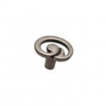 Ручка-кнопка, отделка серебро старое 24165Z0350B.25
