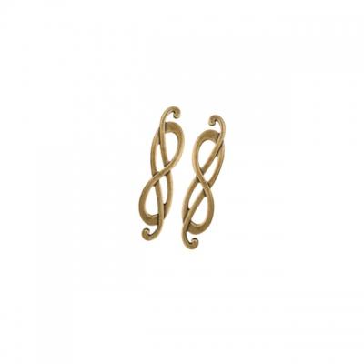 "Ручка-скоба 96мм (левая), отделка бронза ""Флоренция"" 15036Z096SB.09"