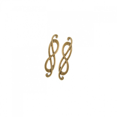 "Ручка-скоба 96мм (правая), отделка бронза ""Флоренция"" 15036Z096DB.09"