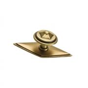 Ручка-кнопка с накладкой, отделка бронза матовая 10.804.C28