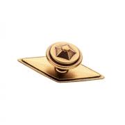 Ручка-кнопка с накладкой, отделка бронза античная красная 10.804.B23