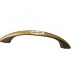 Ручка-скоба 96мм, отделка бронза шлифованная + вставка 55615