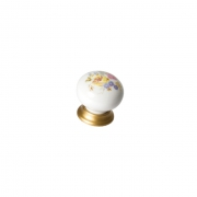 Ручка-кнопка, отделка золото матовое + керамика 9622/200