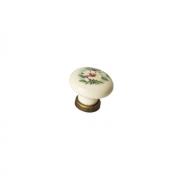 Ручка-кнопка, отделка бронза античная + керамика 9772/831