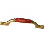 """Ручка-скоба 96/128мм, отделка бронза античная """"Флоренция"""" + керамика """"Бордо"""" M17.X21.22.MD1G"""