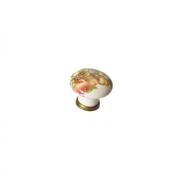 Ручка-кнопка, отделка бронза старая + керамика P04.01.84.02