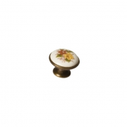 Ручка-кнопка, отделка бронза + керамика PP.96
