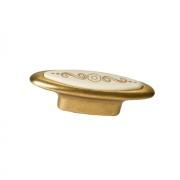 Ручка-кнопка 32мм, отделка бронза античная французская + вставка 10.808.B25-103