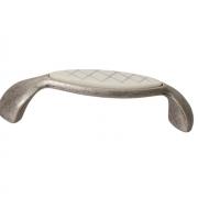 Ручка-скоба 96мм, отделка серебро античное + вставка 9.1331.0096.17-108