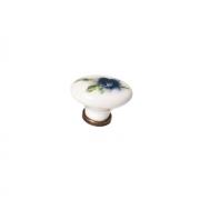 Ручка-кнопка, отделка бронза + керамика PC65G.F06.D46