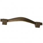 Ручка-скоба 96мм, отделка бронза античная 7492/831